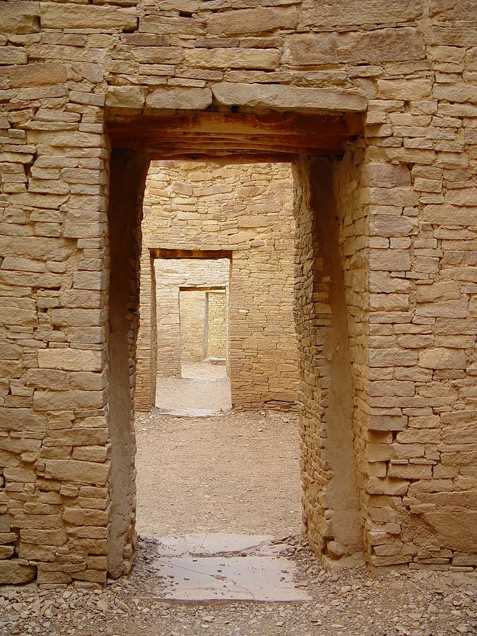 Doors Photograph - Pueblo Bonito Doors by Christina Solstad