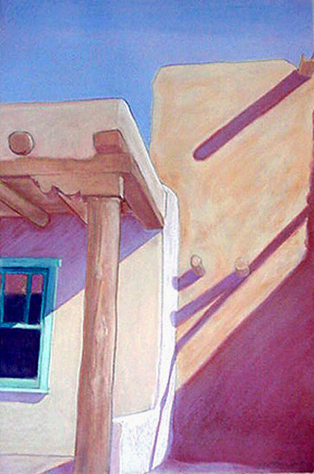 Pueblos Pastel - Pueblo Shadows by Jo Thompson