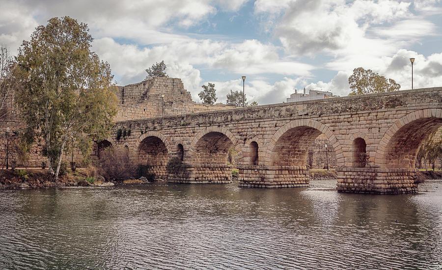 Puente Romano Merida Spain By Joan Carroll
