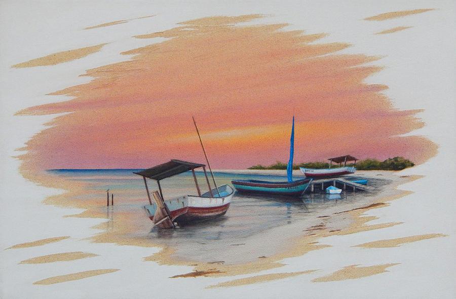 Seascape Painting - Puerto Progreso V by Angel Ortiz