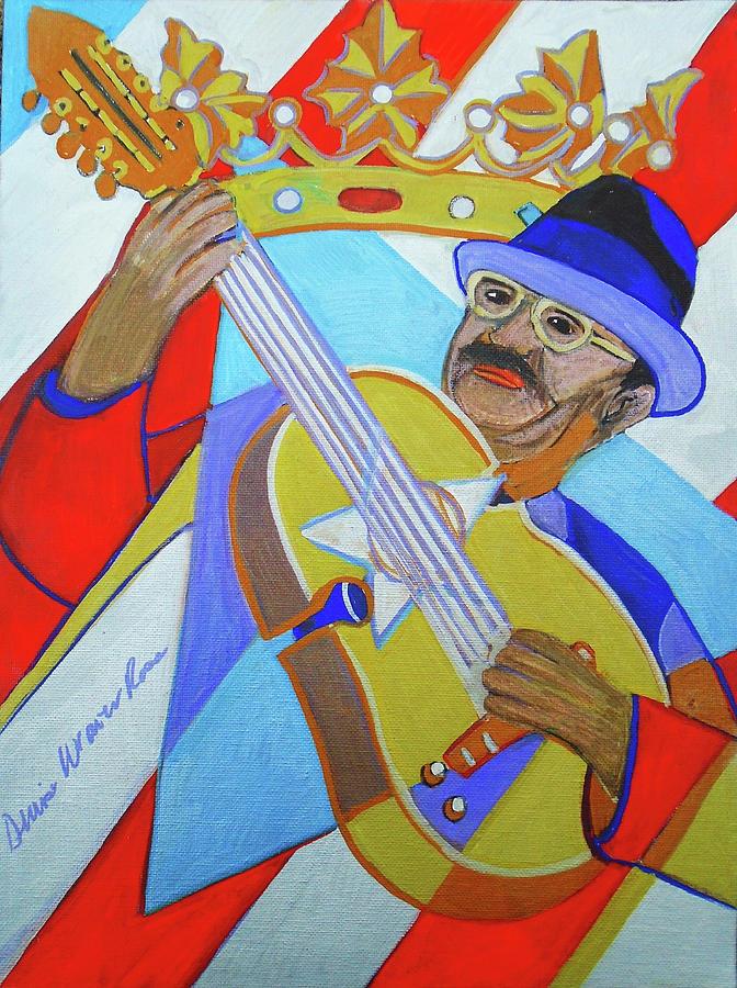 Puerto Rico Painting - Puerto Rican Cuatro  - Ten Strings by Denise Weaver Ross