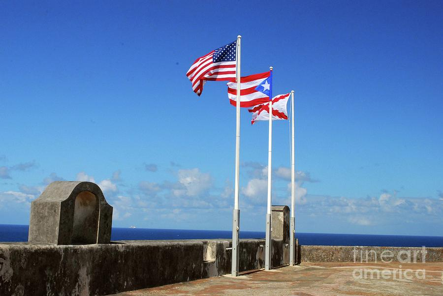 Flag Photograph - Puerto Rican Flags by Gary Wonning