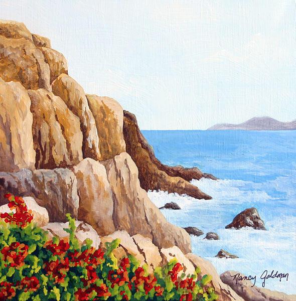 Puerto Vallarta Painting - Puerto Vallarta Coastlne by Nancy Goldman