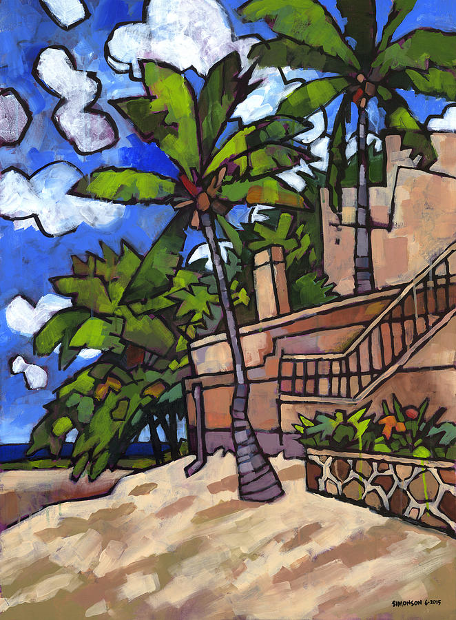 Puerto Vallarta Painting - Puerto Vallarta Landscape by Douglas Simonson
