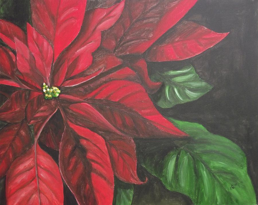 Acrylic Painting - Puff Of Red by Kim Selig