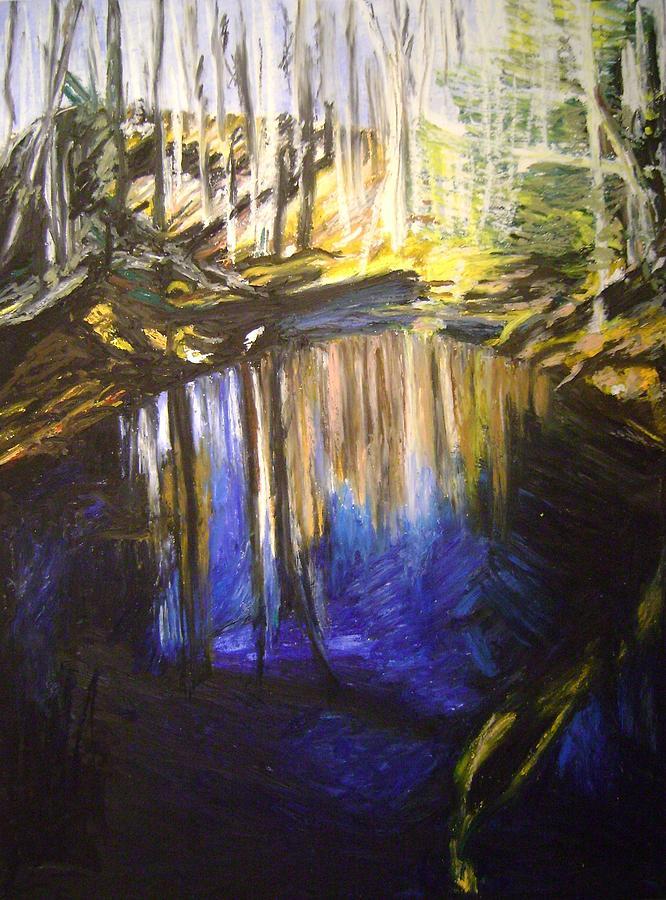 Puffers Pond Pastel - Puffers Pond-2 by Therese Legere