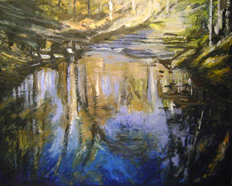 Puffers Pond Pastel - Puffers Pond by Therese Legere