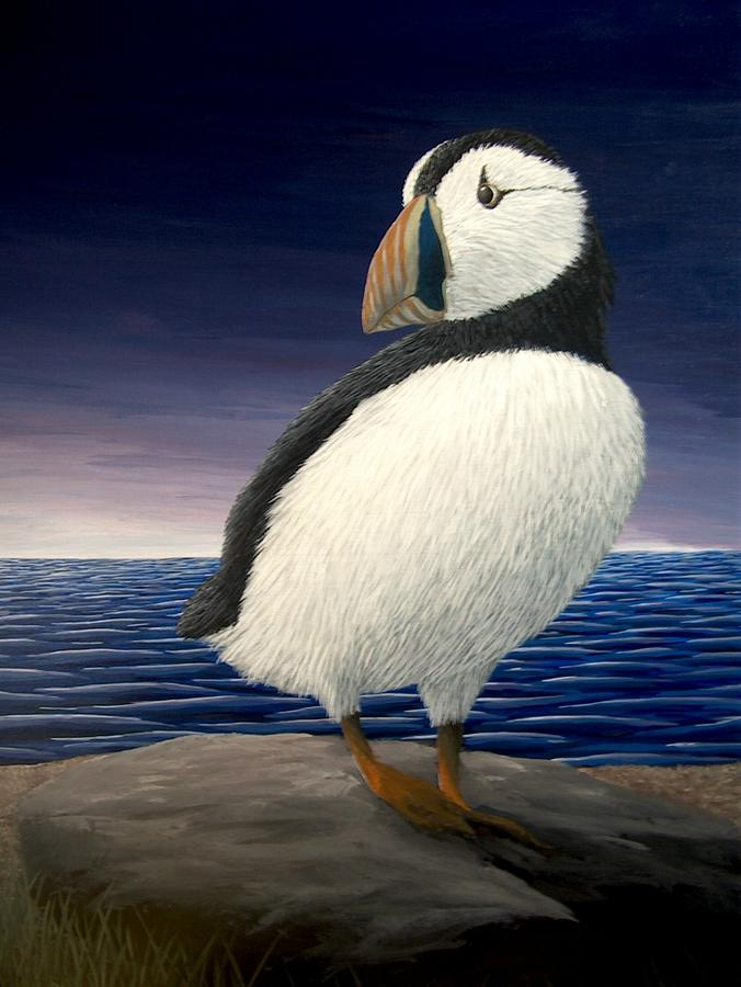 Puffin Painting by Cedric Colond