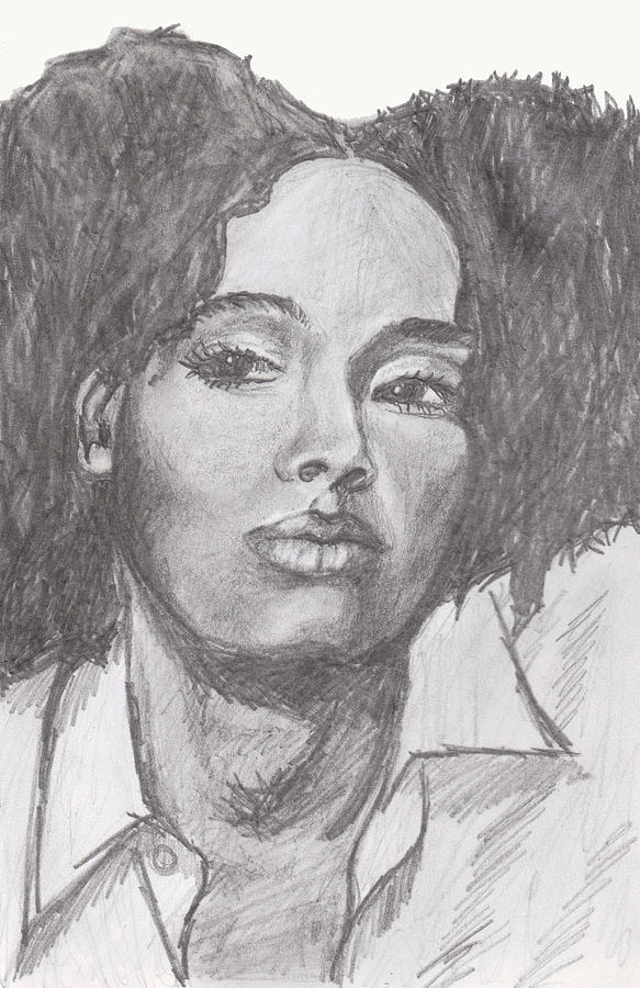 Woman Drawing - Puffs by Jean Haynes