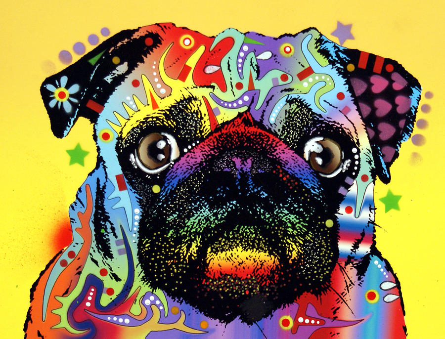 Dean Russo Painting - Pug by Dean Russo Art