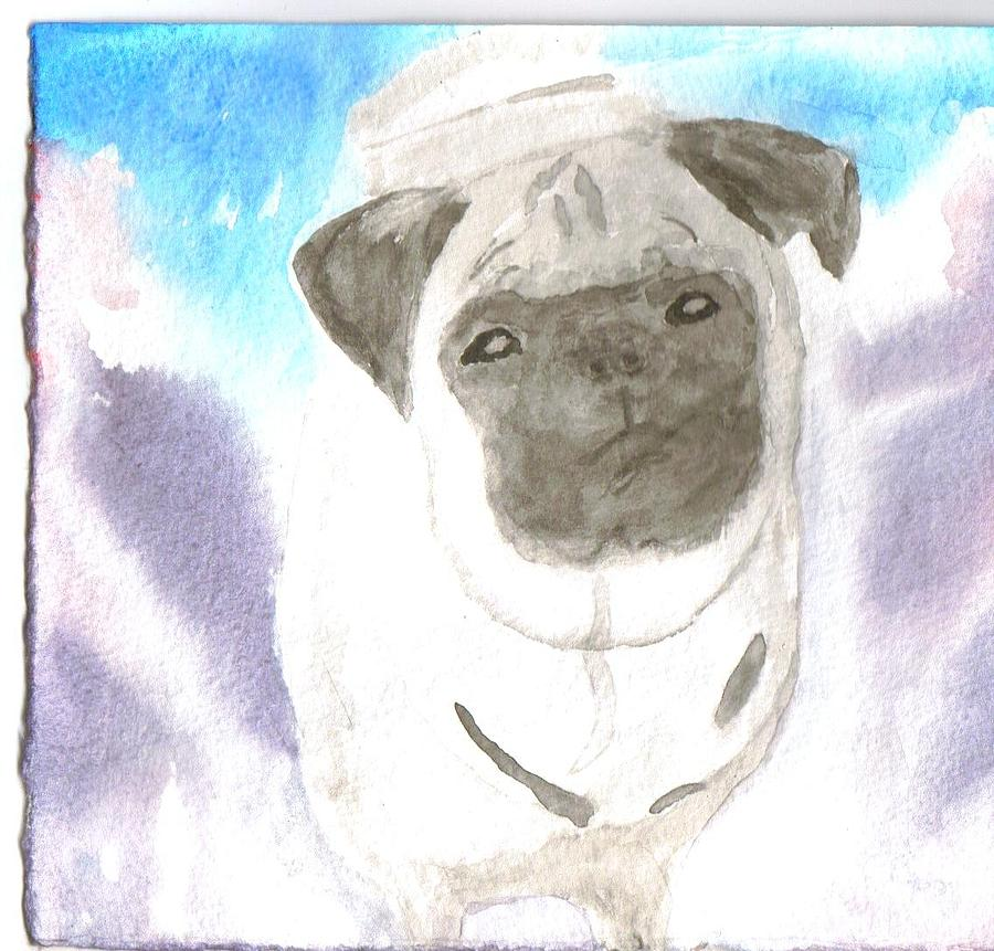 Pug Painting by Warren Thompson