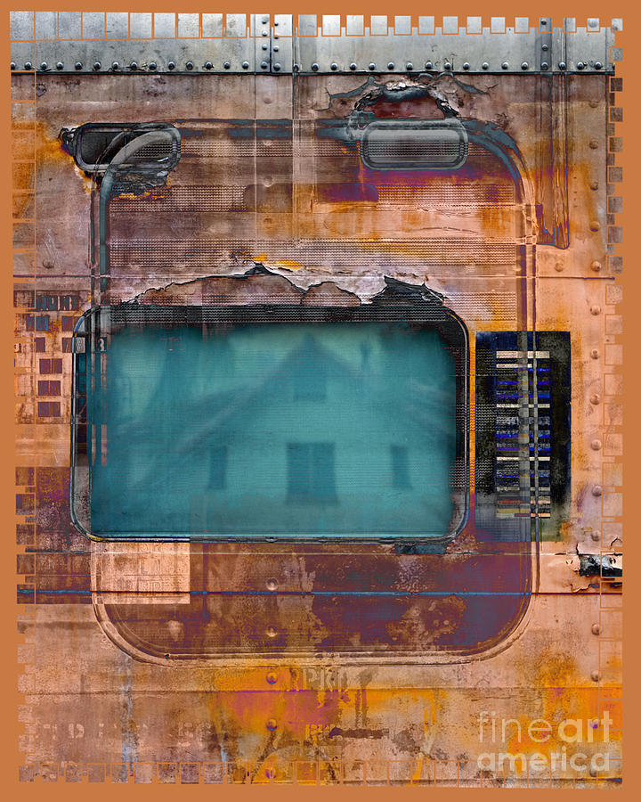 Train Digital Art - Pullman Reflections by Chuck Brittenham