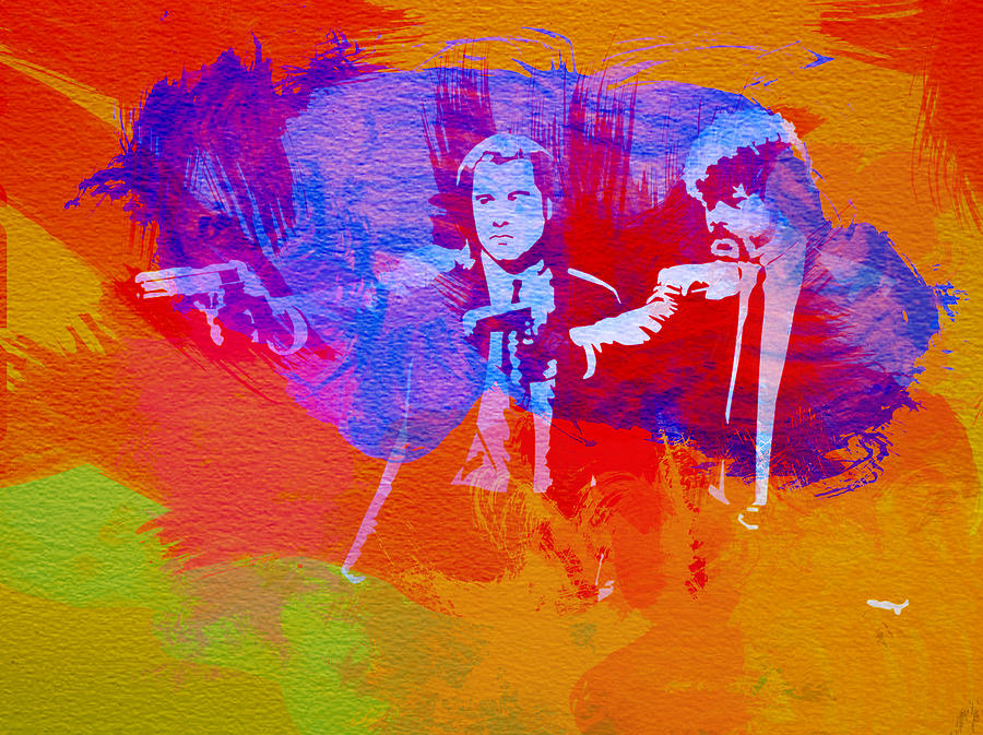 Pulp Fiction Painting - Pulp Fiction 2 by Naxart Studio