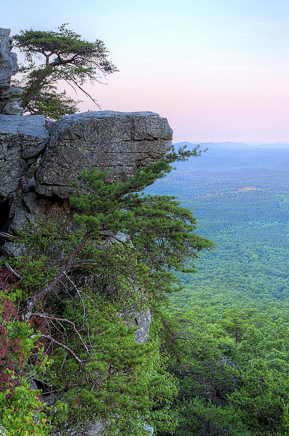 Pulpit Rock Photograph - Pulpit Rock Mt Cheaha by JC Findley