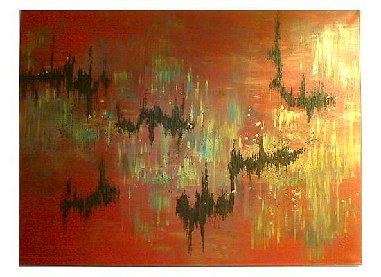 Red Painting - Pulse Pounding by Kristin Miller