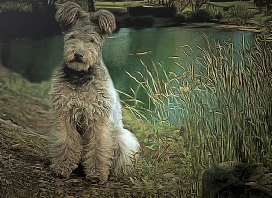 Dogs Painting - Pumi by Janice MacLellan