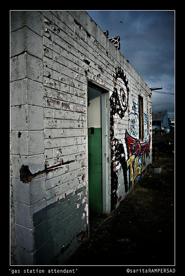 Gas Station Photograph - Pump Attendant by Sarita Rampersad