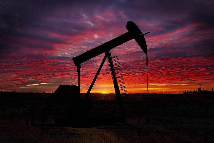 Pumpjack Sunrise Photograph By Mark Mckinney