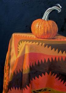 Pumpkin Painting by Margie Guyot