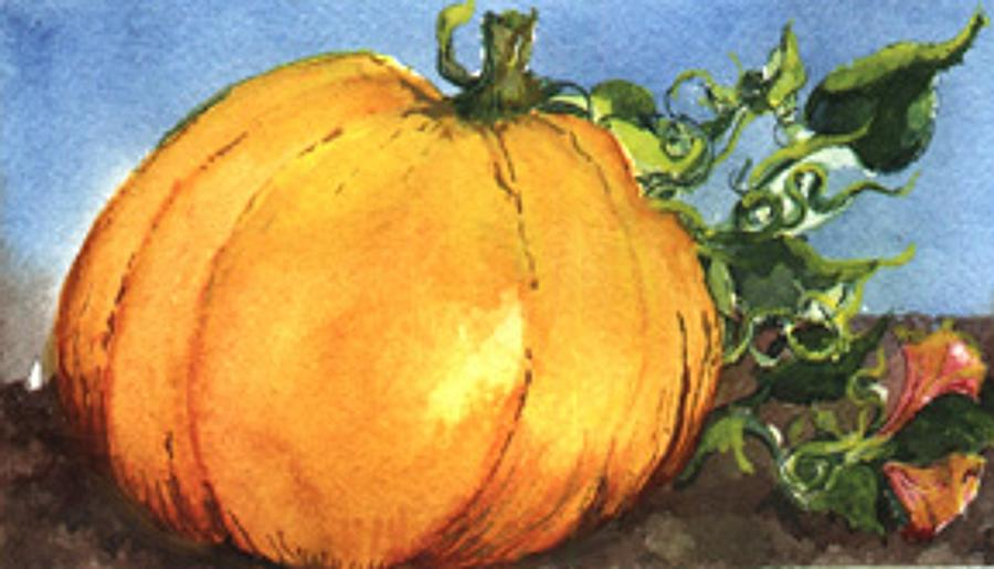 Pumpkin Painting - Pumpkin by Elle Smith Fagan