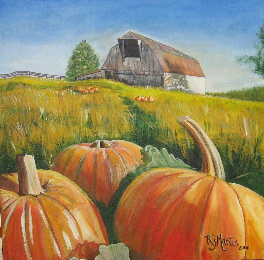Pumpkin Harvest  by Roberta Martin