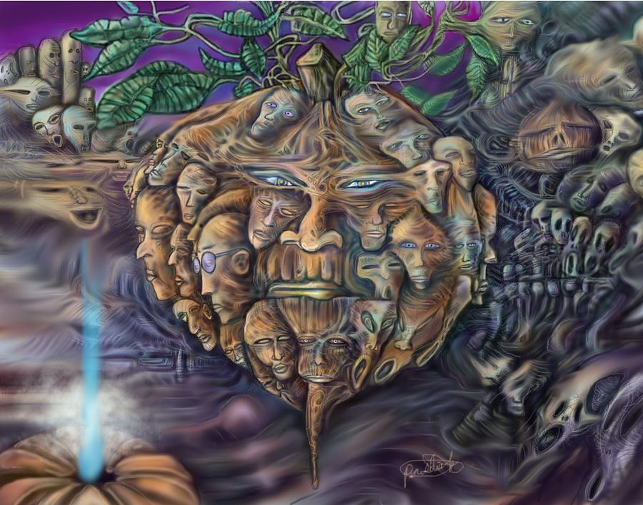 Sciencefiction Digital Art - Pumpkin Morph Cycle by Paul Shields