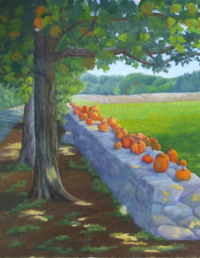 Pumpkins Painting - Pumpkin Muster by Sharon E Allen