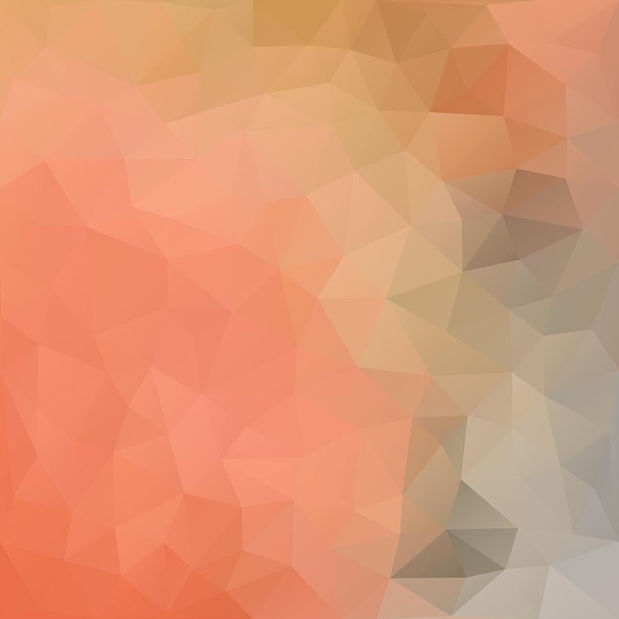 Geometric Digital Art - Pumpkin Pie by Nessikk