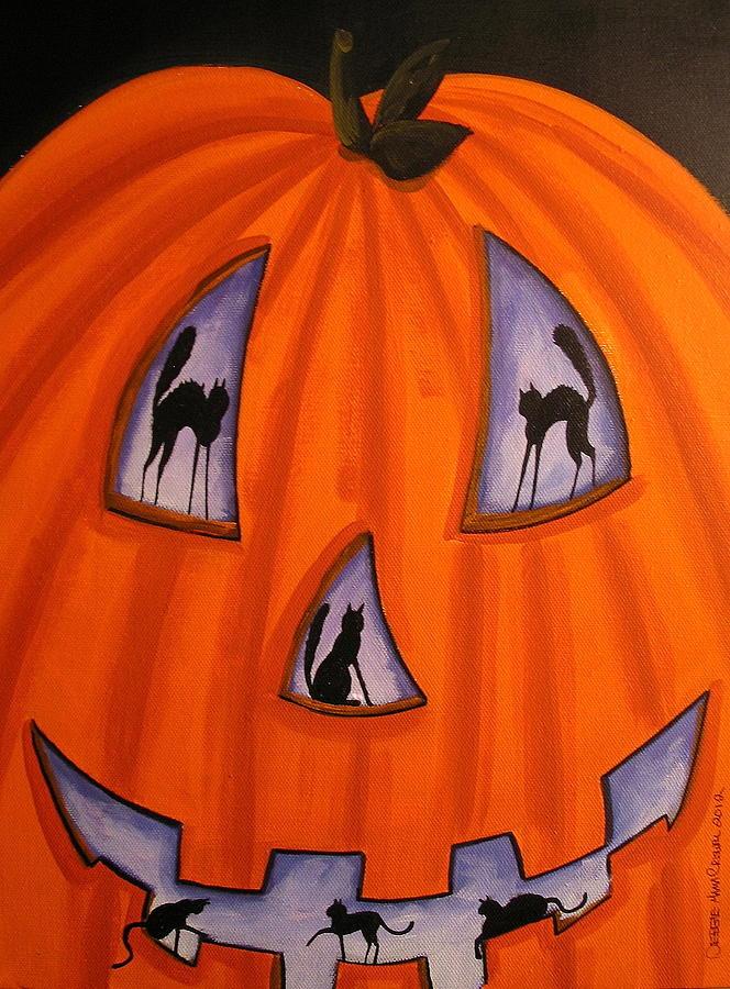 Folk Art Painted Pumpkins