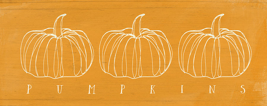 Pumpkins- Art By Linda Woods Mixed Media