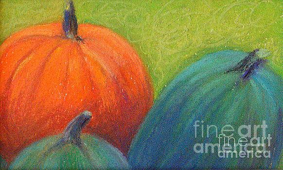 Pastel Pastel - Pumpkins by Lisa Dionne