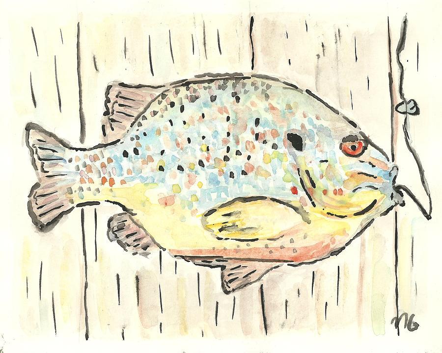 Fish Painting - Pumpkinseed Sunfish by Matt Gaudian
