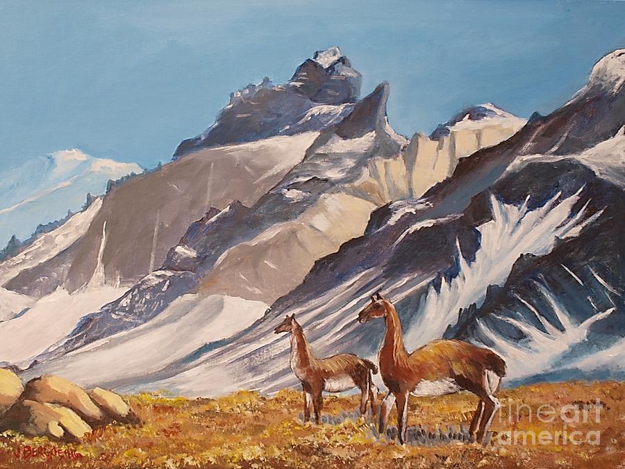 Llamas Painting - Puna De Atacama by Jean Pierre Bergoeing