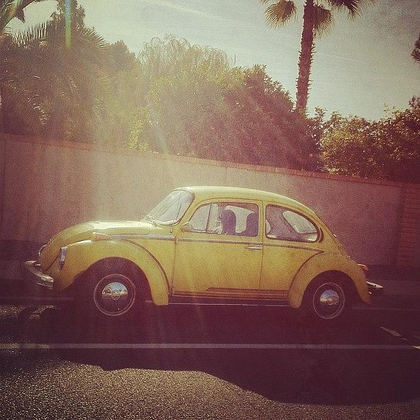 Rays Photograph - Punch Buggy #yellow by Rachel Boyer