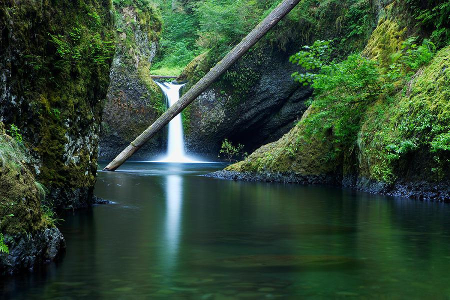 Oregon Photograph - Punchbowl Falls by Eric Foltz