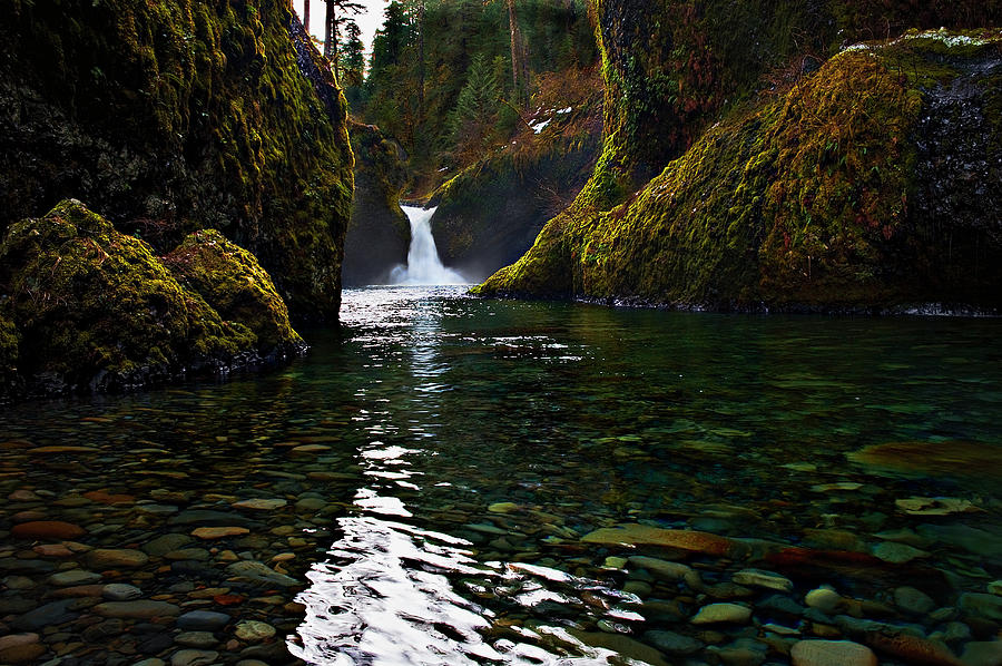 Water Photograph - Punchbowl Falls by John Christopher