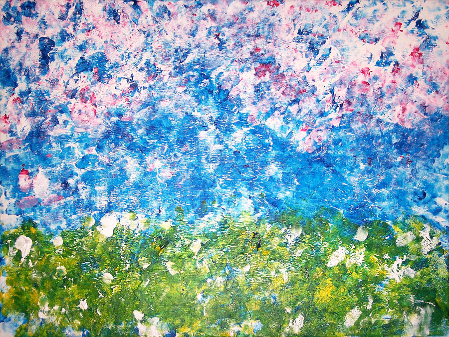 Punched Fields - 1 Painting by Donovan Hubbard