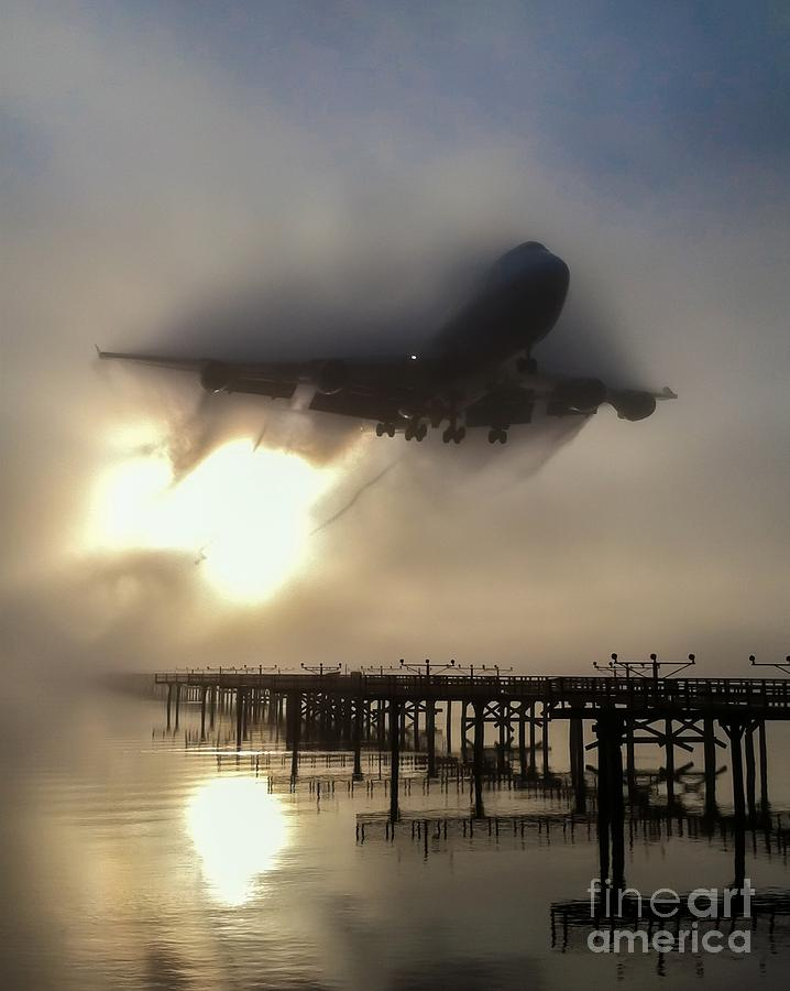 Airplane Photograph - Punching Thru by Alex Esguerra