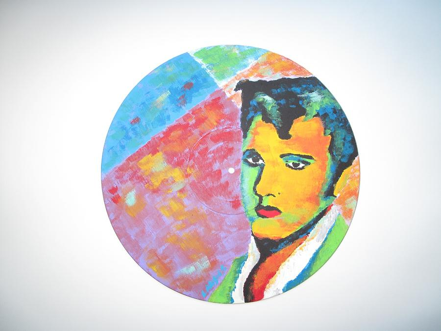 Elvis Painting - Punk by Denise Landis