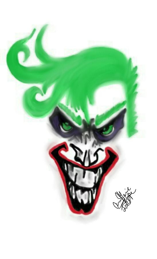 Punk Joker Digital Art by Ann Marie Barnes