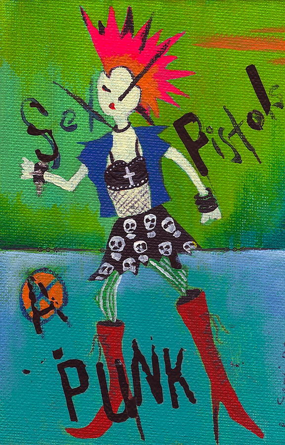 Girl Painting - Punk Rocks Her by Ricky Sencion