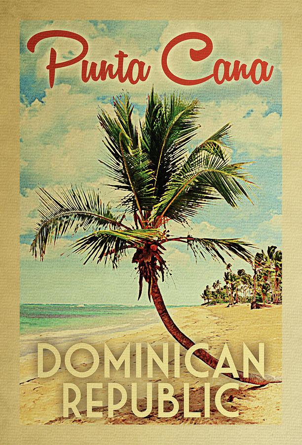 Punta Cana Digital Art - Punta Cana Dominican Republic Palm Tree by Flo Karp