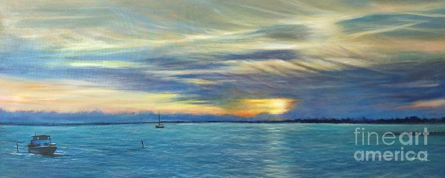 Landscape Painting - Punta Gorda Florida Art by Larry Palmer