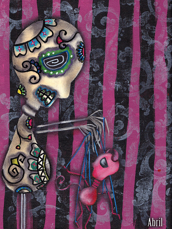 Day Of The Dead Painting - Puppet Master by  Abril Andrade Griffith