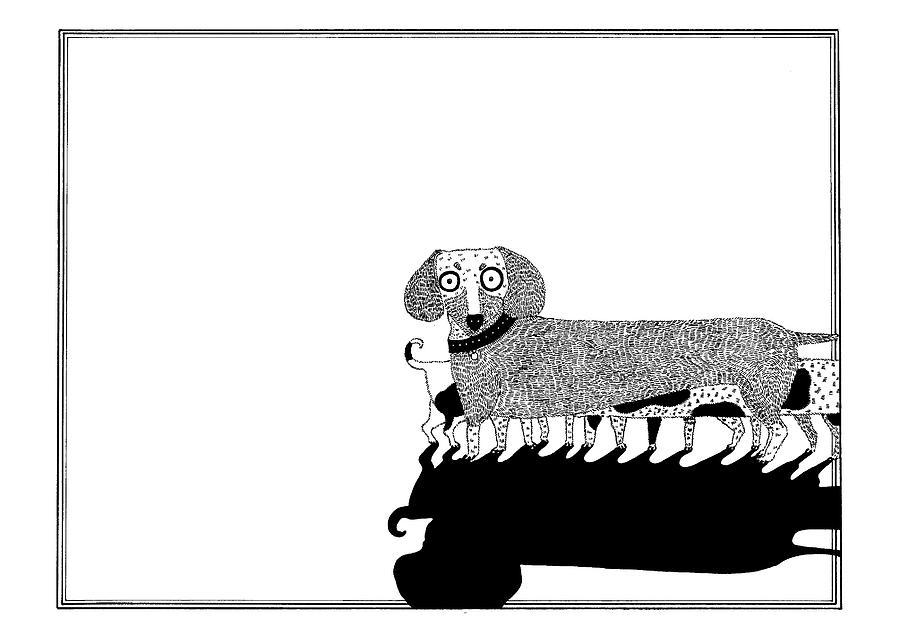 Dogs Drawing - Puppies by Anastassia Neislotova