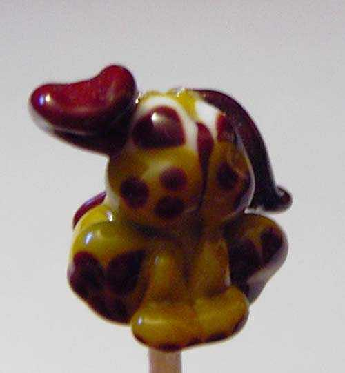 Dog Sculpture - Puppy Dog Bead by Cecilia Alvarez
