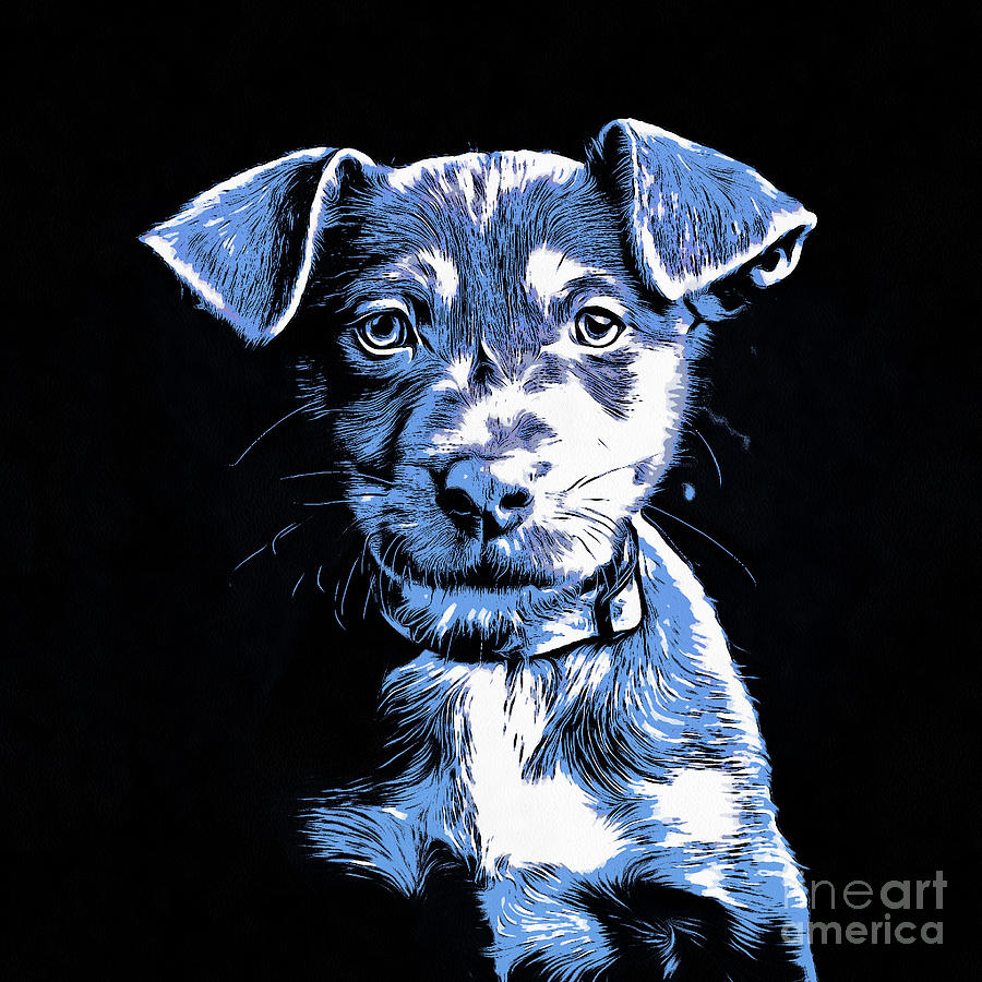 Cute Drawing - Puppy Dog Graphic Novel Drawing by Edward Fielding