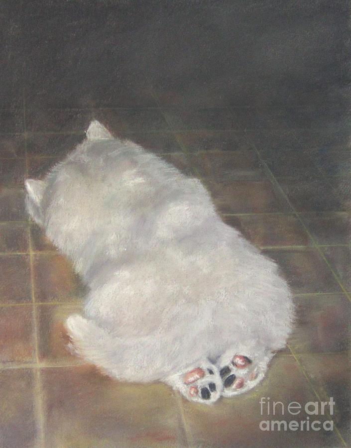 Samoyed Puppies Painting - Puppy Feet by Elizabeth Ellis
