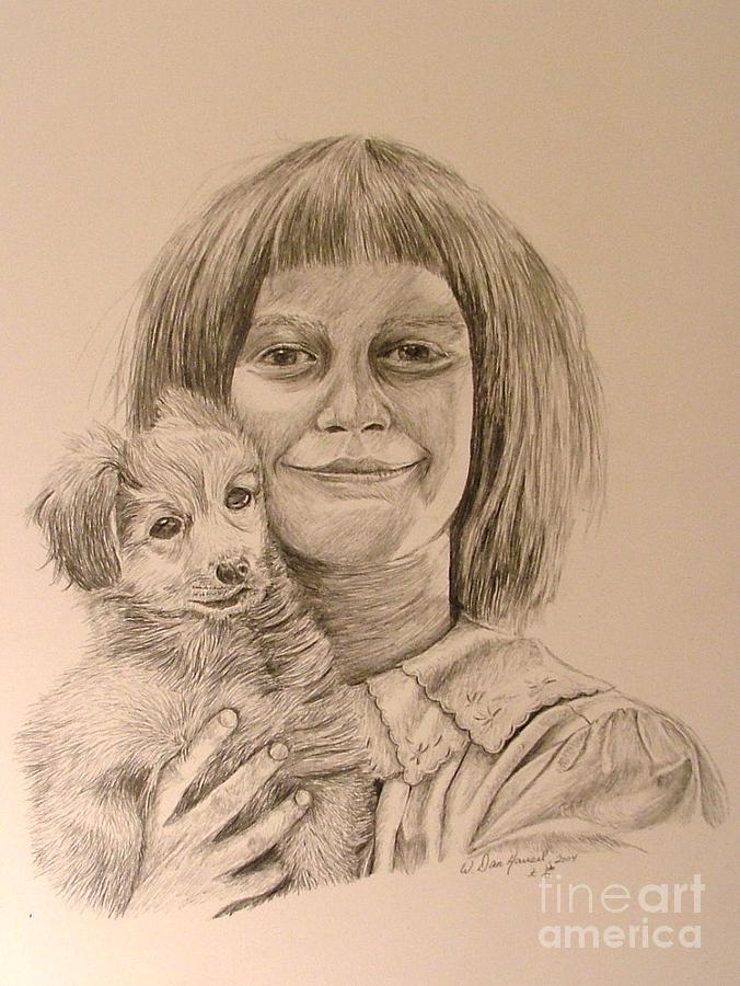 Love Drawing - Puppy Love by Dan Hausel