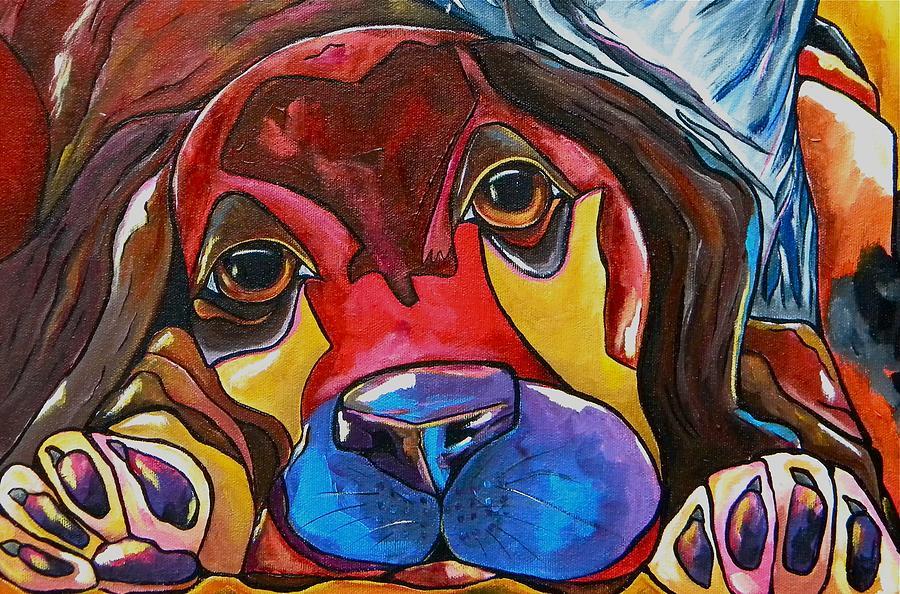 Dog Painting - Puppy Love by Patti Schermerhorn